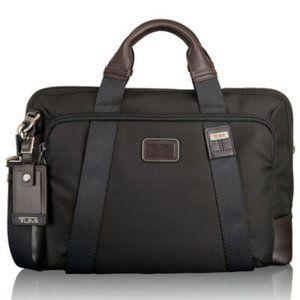 Tumi Alpha Bravo Hansen Briefcase Hickory NWT